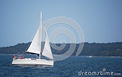 Sailboat on bay