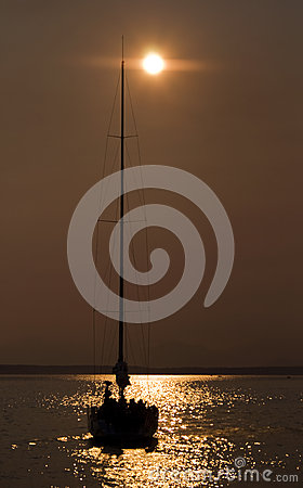 Sailboat on the bay