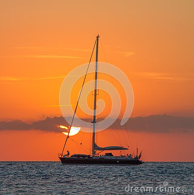 Sailboat On Body Of Water During Sunset Free Public Domain Cc0 Image
