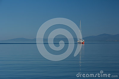 Sailboat on Calm Sea