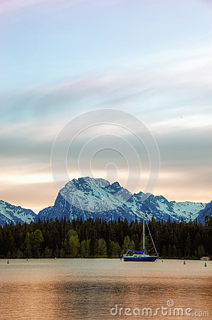 Sailboat in Colter Bay