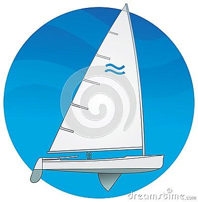 Sailboat. Finn class