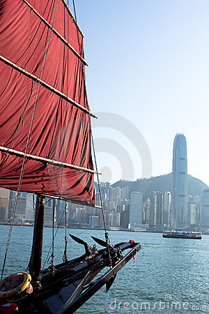 Sailboat Flag in Hong Kong