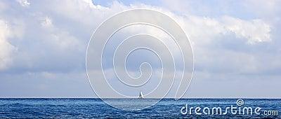 Sailboat on the horizon