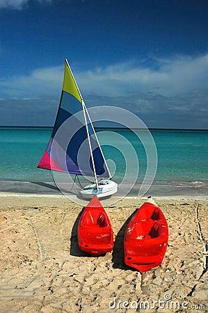 Free Sailboat & Kayaks Stock Photography - 88362