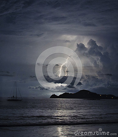 Sailboat and lighting
