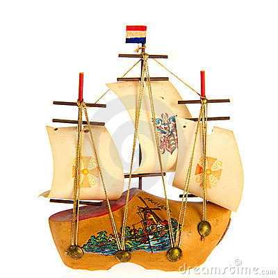 Free Sailboat Made Of Clog Royalty Free Stock Photos - 20653458