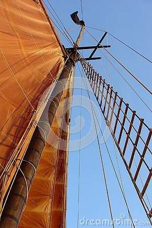 Free Sailboat Mast With Sail  Stock Photography - 3460902