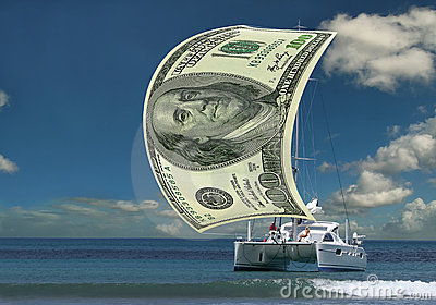 Sailboat money sail