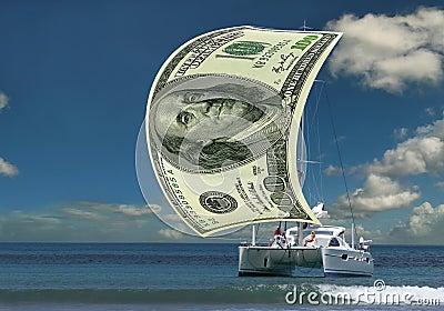 Sailboat money sail