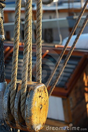 Sailboat pulleys detail