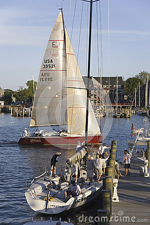 Sailboat race at Yacht Club in Annapolis Editorial Stock Photo