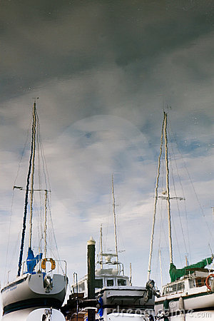 Sailboat reflections