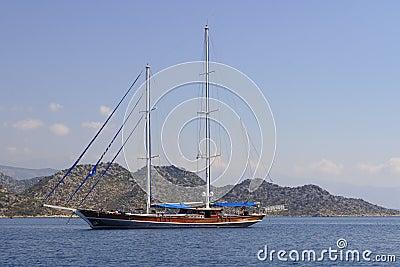Sailboat without sail