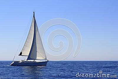 Sailboat sailing sails blue Mediterranean