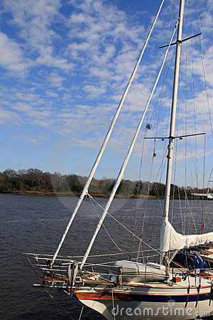 Sailboat on Savannah river