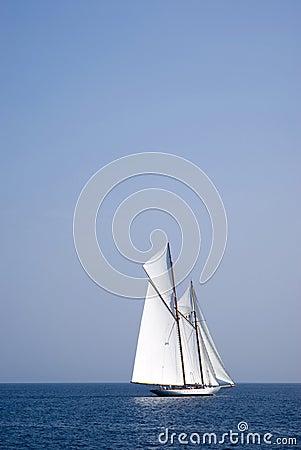 Sailboat on sea Editorial Image