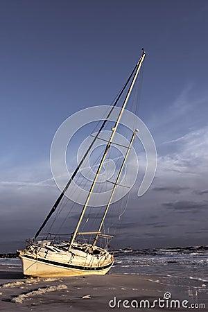Sailboat Shipwrecked