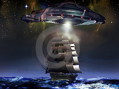 Sailboat and UFO