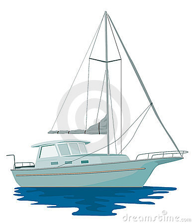 Sailboat yacht