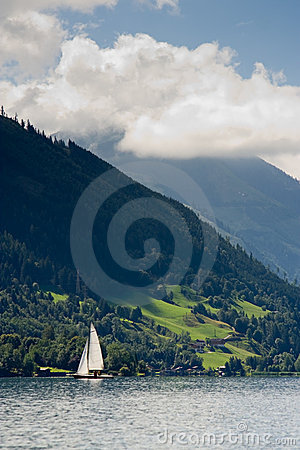 Sailboat in Zell am See, Austria