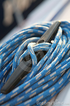 Sailboater s equipment on yacht