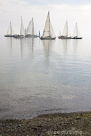 Free Sailboats In Calm Water Stock Photo - 3387770