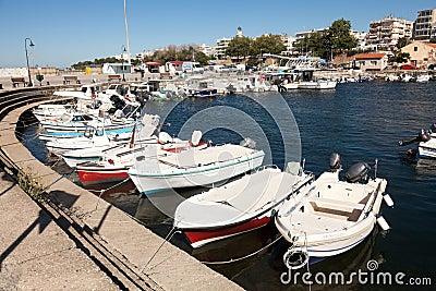 Sailboats at marina dock of Alexandroupolis Editorial Image