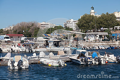 Sailboats at marina dock of Alexandroupolis Editorial Photo