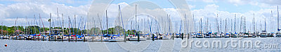 Sailboats marina panorama