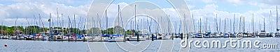 Sailboats marina panorama