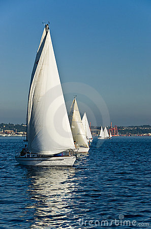 Free Sailboats On Sunny Day Royalty Free Stock Photos - 4028938