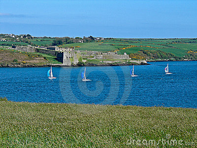 Sailboats Racing Past Charles Fort