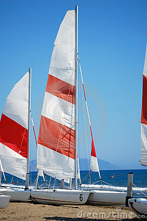 Sailboats on the Sand