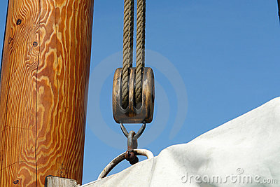Sailing background sails ropes pulley