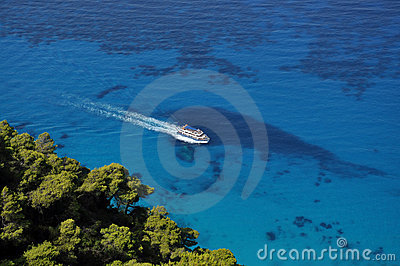Sailing in the blue Ionian sea
