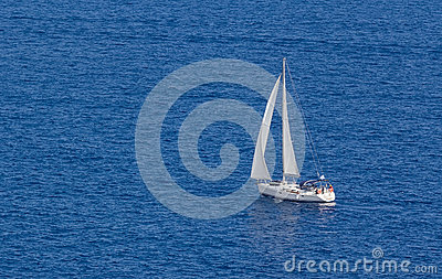 Sailing boat in the Aegean