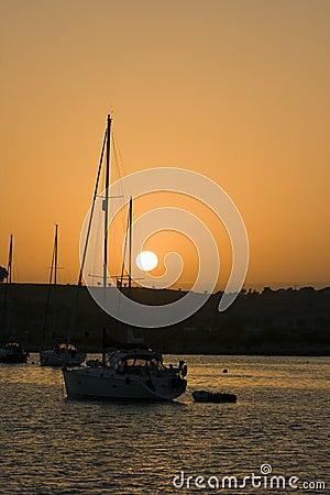Sailing boat, Algarve, Portugal