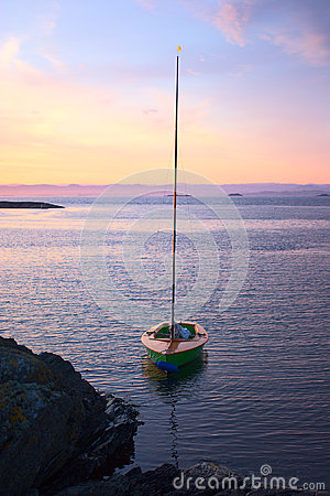 Free Sailing Boat At Sunset Royalty Free Stock Photo - 45348045