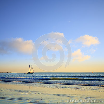 Sailing Boat Cable Beach Broome  Australia