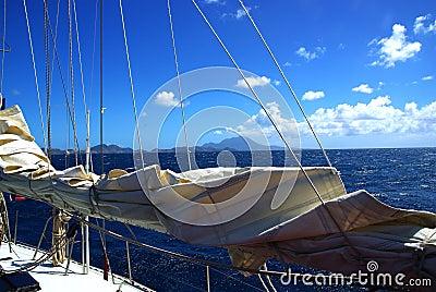 Sailing boat Caribbean