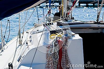 Sailing boat cockpit