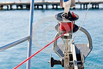 Sailing boat genoa furling system