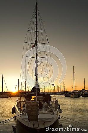 Free Sailing Boat In Marina Stock Photo - 2216140