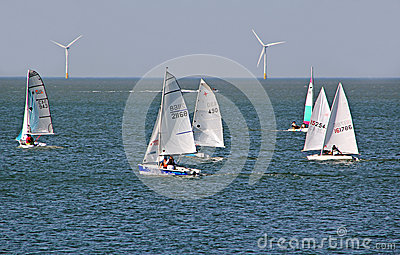 Sailing boat regatta racing Editorial Stock Photo