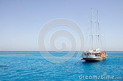 Sailing boat on sea
