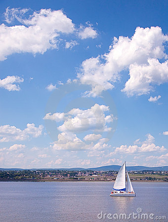 Sailing Boat on the St-Lawrence River