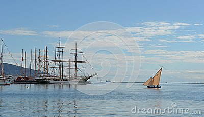 Sailing boat and tall ships Editorial Stock Image