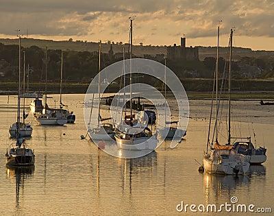 Sailing boats at Amble Harbour