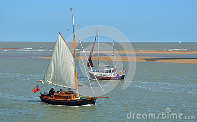 Sailing Boats Deben Estuary Editorial Photography